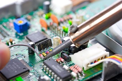 Soldering a circuit board